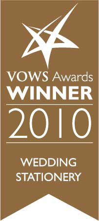 VOWS AWARD WINNER STATIONERY CATEGORY 2010